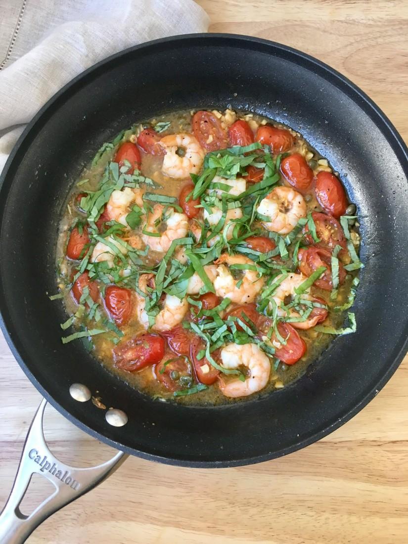 shirmp in pan